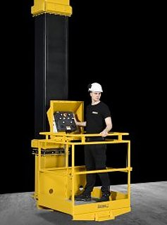 The Blastman B20ML is a gantry-type manlift with a telescopic boom to move the operator platform around the workpiece. The Blastman B20ML has been engineered for both blast and paint rooms. The Blastman B20ML operates as an overhead crane and provides the best possible access around large workpieces without any scaffolding, movable boom lifts, or ladders. The B20ML can be installed in painting chambers replacing the traditional scaffolding and boom lifts.